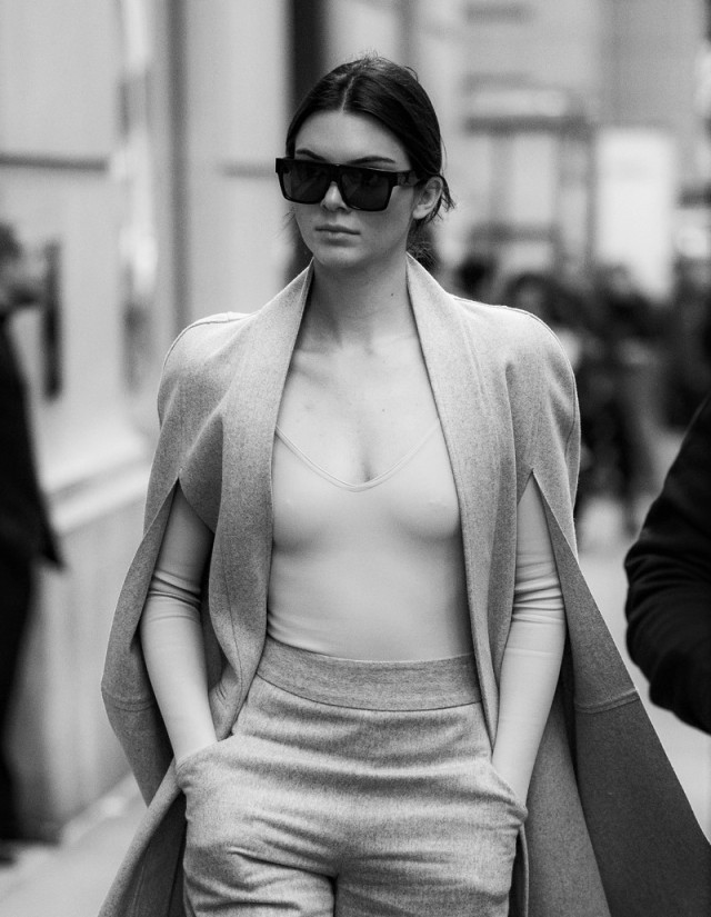 Kendall Jenner going to Balmain x H&M in New York.